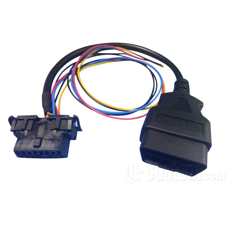 OBDII Cable and Wire leads with Fuse holder inline
